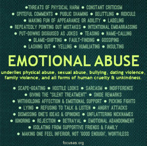 ... physical abuse, sexual abuse, bullying, dating violence, family