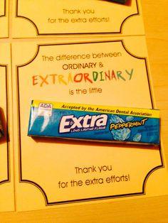 Appreciation with Extra gum