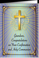 Congratulations / Confirmation, Holy Communion, Grandson card ...