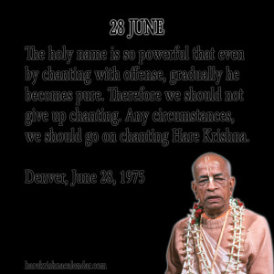 Srila Prabhupada's Quotes for June 28