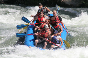 We went rafting yesterday, and I just had to post this picture. Good ...