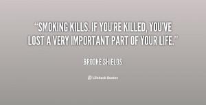 Brooke Shields Smoking Quote