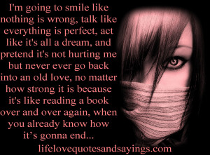 ... old love, no matter how strong it is because it's like reading a book