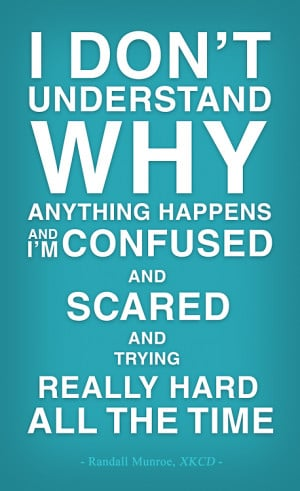 ... why anything happens and I'm confused…' – Randall Munroe