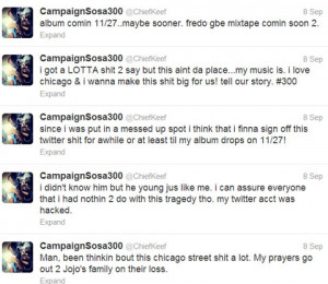 ... about you (Chicago and JoJo and Twitter, and his new album & stuff