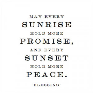 promise and peace - blessing magnet