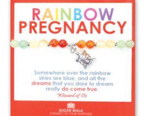 Rainbow Pregnancy Bracelet, Healthy Baby, Miscarriage Protection ...
