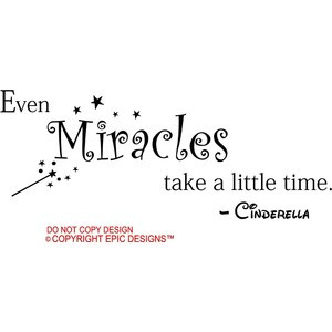 ... Little Time Cinderella Disney Cute Wall Quotes Sayings Art Vinyl