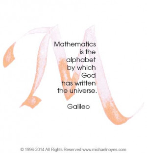 Math Quotes Galileo   Galileo, Calligraphy Art Plaques