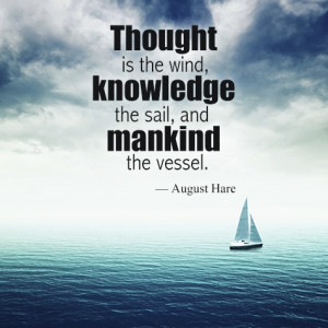 ship and sailing quote on knowledge