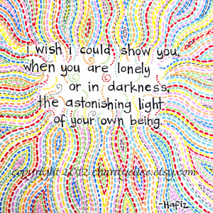 Brightly Colored Art Print - Hafiz Quote-