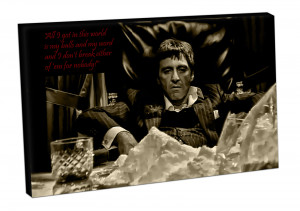 Canvas Picture Art Print Ready Hang Tony Montana Scarface Quotes