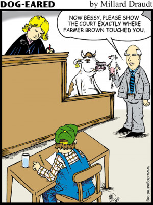 Funny Times – Cow in Court