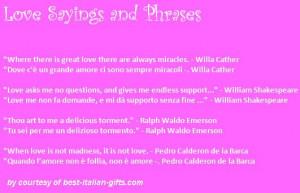 love quotes in italian