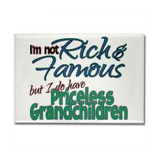 Priceless Grandchildren Rectangle Magnet for