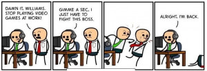 Funny Work Appropriate Quotes http://uberhumor.com/video-games-at-work