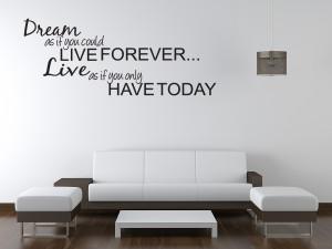 DREAM-LIVE-Girls-Teen-Bedroom-Vinyl-Wall-Quote-Art-Decal-Sticker-Room ...