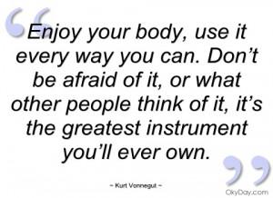 enjoy your body kurt vonnegut