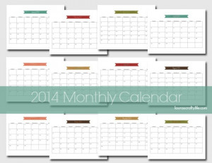 Monthly Calendar Template Word