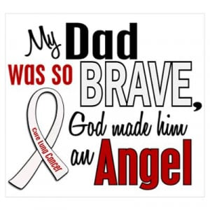 CafePress > Wall Art > Posters > Angel 1 DAD Lung Cancer Poster