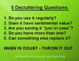 Tags: clutter , declutter , decluttering , organizing tips
