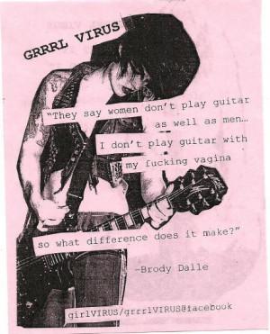 brody dalle, feminism, grrrl riot, grrrl virus, guitar, hot, music ...