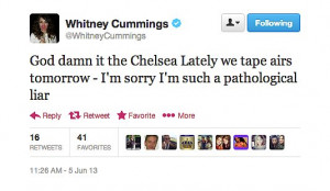 Related Pictures funny tweets from whitney cummings with female ...