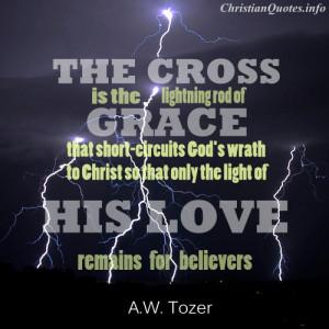 Tozer Quote - Lightning Rod of Grace - lightning at night