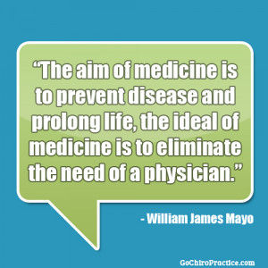 The Aim Of Medicine Is To Prevent Disease And Prolong Life, The Ideal ...