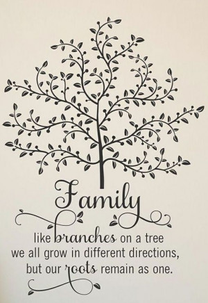 ... Trees, Families Trees Wall, Roots Remain, Wall Quotes, Family Tree