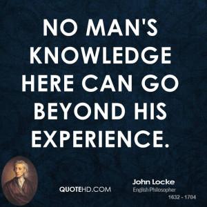 John Locke Experience Quotes