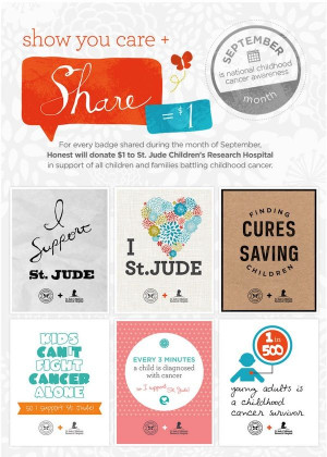... Cancer Awareness Month & St Jude Children's Research Hospital