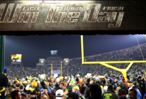 in the tunnel is seen after the Oregon Ducks defeated the Oregon ...