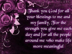 Blessing Thanks