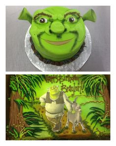 Shrek & Donkey Birthday Cake and Smash Cake! Sweet Boutique Cakes