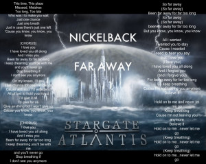 Displaying 17> Images For - Far Away Quotes Nickelback...