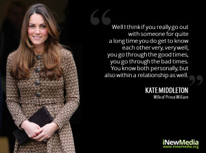 "Kate Middleton's quote on ""Relationships"""