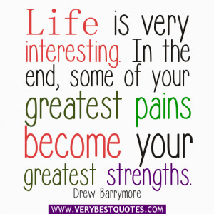 encouraging life quotes - life is very interesting quotes