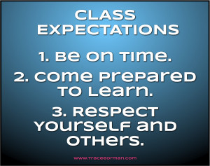 High School Classroom Rules Expectations http://www.traceeorman.com ...
