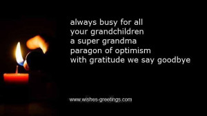 short religious quotes about death grandmother