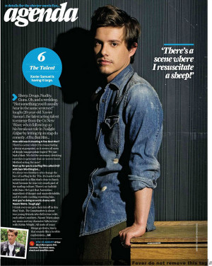 Xavier Samuel in Total Film Magazine