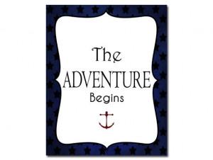 Nautical Print Nautical Quote Ocean Nursery Decor Nautical Red White ...