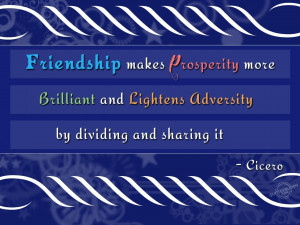 cicero friendship 4 essay Friends forever: st augustine, friendship, and catholic evangelism brother andré marie, micm this paper was written in preparation for a talk at the 2006.