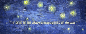 art quote painting sky vincent van gogh starry night starry night over ...