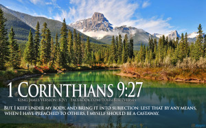 Bible Verses On Discipline 1 Corinthians 9:27 River HD Wallpaper