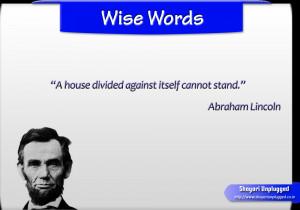 Quotes By Abraham Lincoln In Hindi ~ A house divided - Shayari ...
