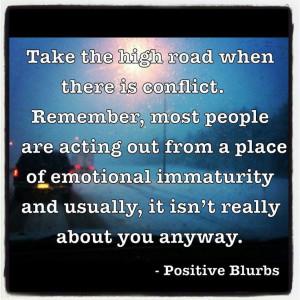 Emotional immaturity.