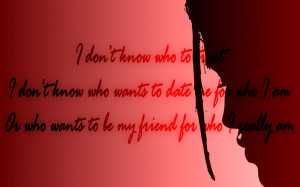 Question Existing - Rihanna Song Lyric Quote in Text Image