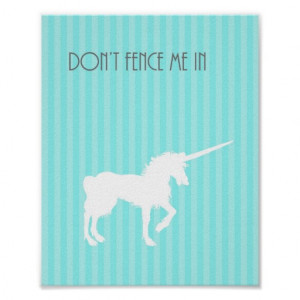 Unicorn Poster Inspirational Quote Unicorn Poster
