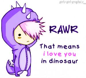 dinosaur love:) - love-quotes Photo